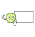 thumbs up with board fresh slice cucumber on vector image vector image