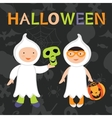 Trick or treat kids Boy and girl in vector image vector image