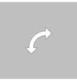 U-Turn computer symbol vector image