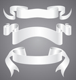 White Paper Ribbons vector image