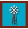 windmill farm isolated icon vector image vector image
