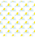 seamless pattern of yellow vector image