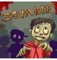 Zombie walking in group vector image