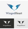 Flying wings Logo template vector image