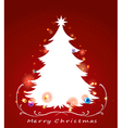a christmas card vector image vector image