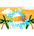 A summer artwork with coconut trees vector image