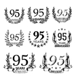 Anniversary emblems in sketch style vector image vector image