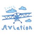 aviation print for kids vector image