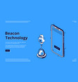 beacon wireless technology isometric web banner vector image