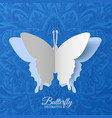 beautiful colorful butterfly background concept vector image