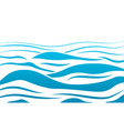 blue water sea waves abstract background vector image