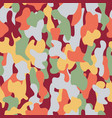 camouflage seamless pattern in a burgundy light vector image