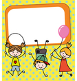 children playing card vector image vector image