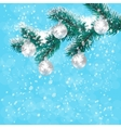 Christmas New Year s card Silver balls on a vector image vector image