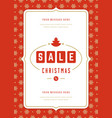 christmas sale flyer or poster design discount vector image vector image