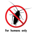 Cockroaches and stop cockroach sign symbols