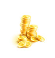 coins pile icon of golden dollar coin cents vector image