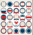 collection badge and labels blue and red 01 vector image vector image