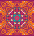 colorful ornamental floral ethnic mandala vector image vector image