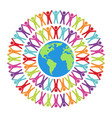 colorful people around world vector image vector image