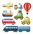 Cute Transportation vector image vector image
