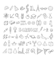 Education Sketch Icons Collection vector image