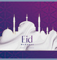 eid festival mosque design background vector image vector image