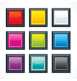 empty colorful square buttons vector image vector image