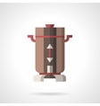 Flat color coffee mill icon vector image