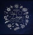 flat deep space monogram blue vector image vector image
