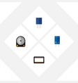flat icon technology set of receptacle transistor vector image vector image