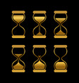 golden sands time hourglass isolated vector image vector image