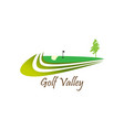 golf valley logo for golf practice vector image vector image