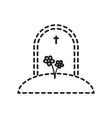 gravestone icon image vector image
