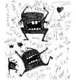 grunge dreadful horrible monster fun character vector image vector image
