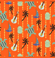 hawaii beach orange seamless pattern vector image vector image
