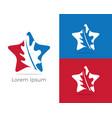 herbal logo pharmacy icon leaf in star vector image vector image
