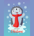 holiday christmas card with cute flat vector image vector image