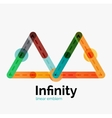 infinity logo flat colorful design vector image