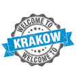 krakow round ribbon seal vector image vector image
