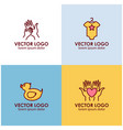 logo design templates in linear style - motherhood vector image