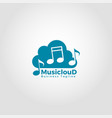 music cloud - high quality online music streaming vector image vector image
