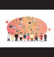 people with education concept vector image vector image