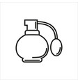 perfume simple icon on white background vector image vector image