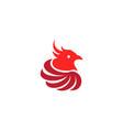 phoenix head bird circles wings logo vector image vector image
