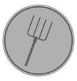 pitchfork silver coin vector image vector image