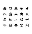 playground glyph icons vector image vector image