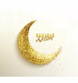 ramadan greeting with glitter islamic crescent vector image vector image
