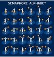 Semaphore alphabet flags vector image vector image
