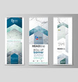 set of roll up banner stands templates geometric vector image vector image